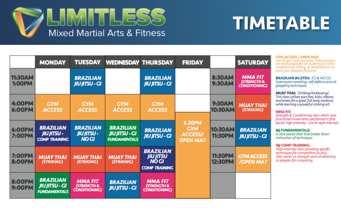 limitless-mma-timetable